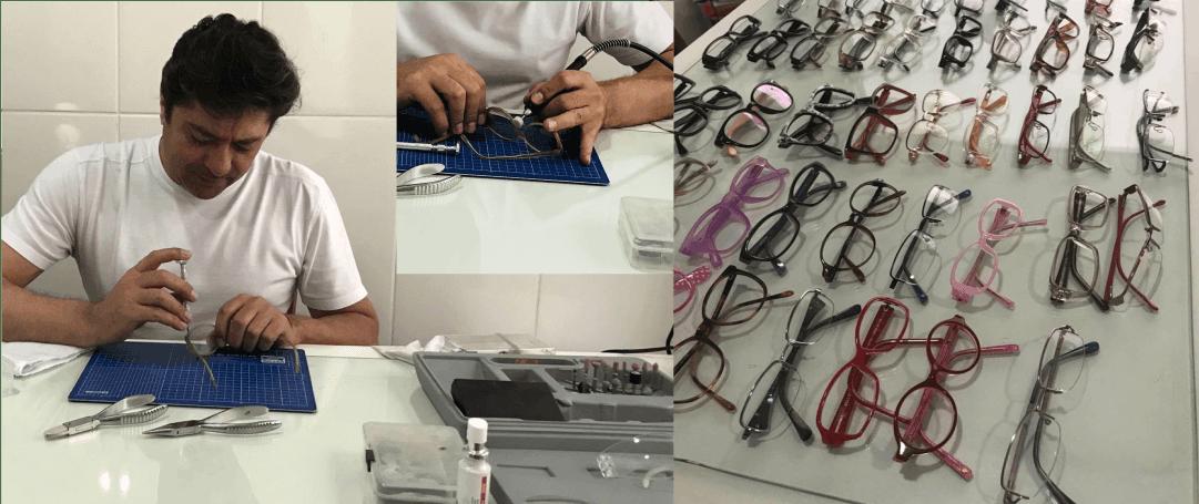 oticas panamby homem restaurando oculos
